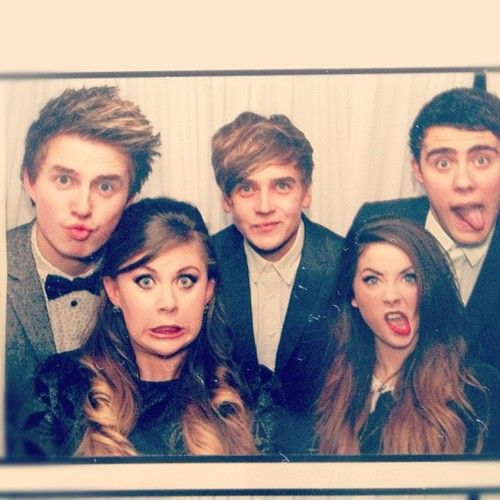 Marcus Butler, Louise, Joe Sugg, Zoe Sugg and Alfie Deyes ...
