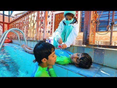 نواف غرق بالمسبح وانقذته الدكتوره ونايف Youtube Xmas