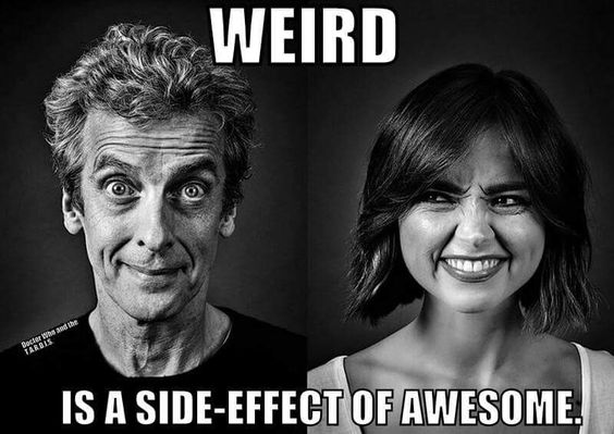 Weird is a side-office of awesome
