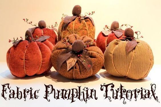 .Fabric Pumpkin Tutorial