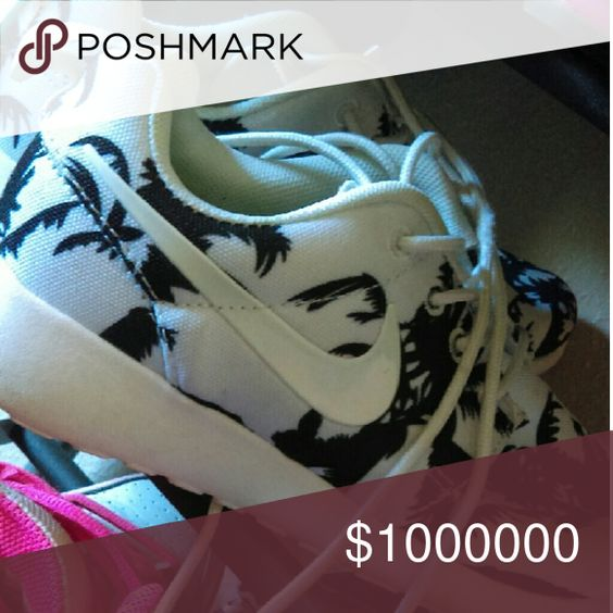 ISO a trade or cash monaaaay These are limited Edition palm tree Nike Rosches. These are extremely rare. I spent over $300 on these. I am just seeing what's offered to me....what's out there Nike Shoes Athletic Shoes