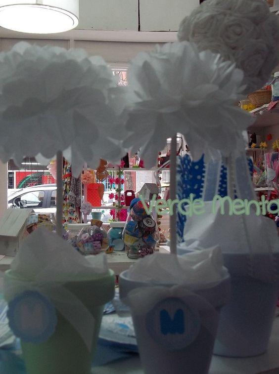Topiarios Arbolitos Papel De Seda Centro De Mesa- Factura C - $ 50,00 en MercadoLibre