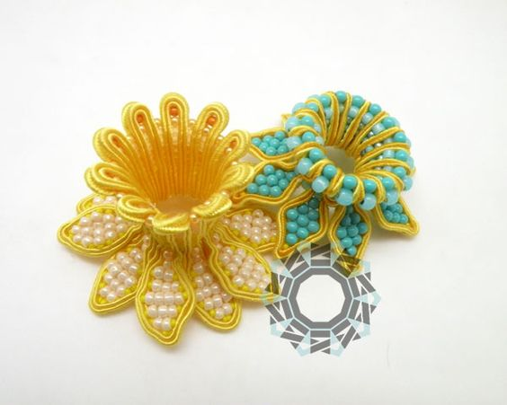 3D soutache flowers, Alina Tyro-Niezgoda Tender December: