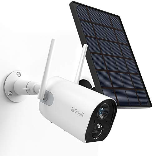 Wireless Outdoor Security Camera, WiFi Solar Rechargeable Battery Power IP  Surveillance Ho…   Wireless security camera outdoor, Outdoor security camera,  Home camera