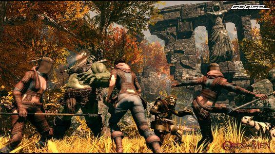 Of Orcs and Men - Cool, dass Orcs in einem PC-Game mal wirklich grösser als die Menschen sind.