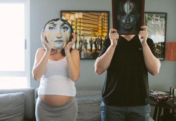 fotos divertidas durante a gravidez
