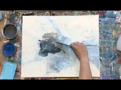 Abstraktes Bild In Acryl Easy Technik Simples Werkzeug
