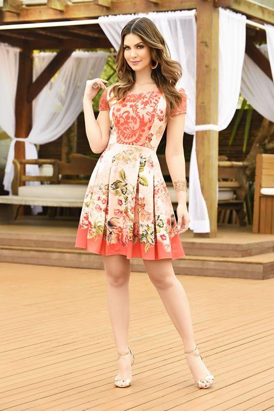 Vestidos Simples Floridos