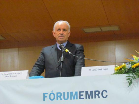 D. António Francisco dos Santos, presidente da CEECDF, na abertura do Fórum EMRC 2014.