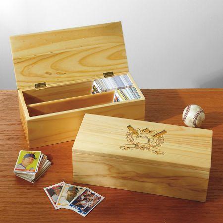 Wooden Baseball Card Storage Boxes Mix And Match Kitchen