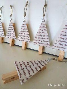 Creative ideas diy salt dough snowflake ornaments - Idea For Christmas Clothespin Great Idea For Pegging