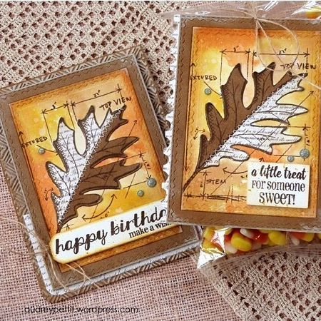Have you seen these fantastic fall card makes by @audreypettit using @tim_holtz's Leaf Blueprint Framelits w/ Stamps set? 🍂🍁 Our heads our spinning with ideas using these dies and stamps for some last minute Thanksgiving creations!