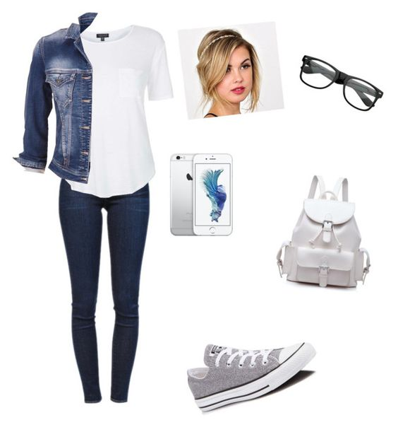 """Untitled #106"" by maryam-abushabab on Polyvore featuring Frame Denim, Topshop, maurices and Converse"