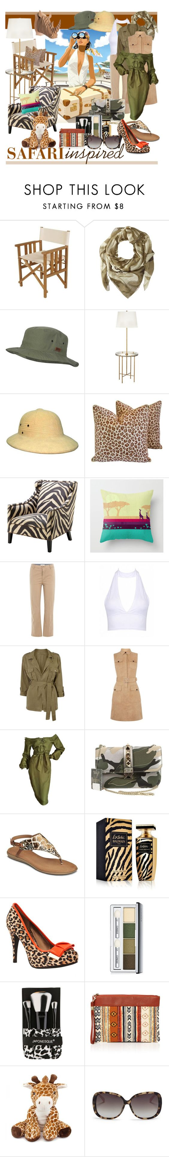 """Safari Inspired – Travel-Quest"" by geewhizart ❤ liked on Polyvore featuring Brooks, WALL, Barlow Tyrie, Marc by Marc Jacobs, Billabong, Kathy Ireland, Eichholtz, Closed, Karen Millen and Tom Ford"