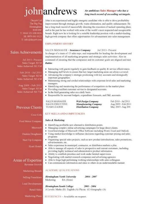 Free Cv Examples Templates Creative Downloadable Fully Template