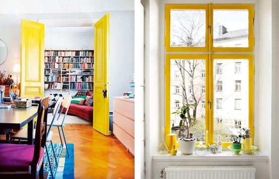 Idee Salle De Bain 6M2 : Peindre ses huisseries en jaune  Idées déco  Pinterest  Interieur