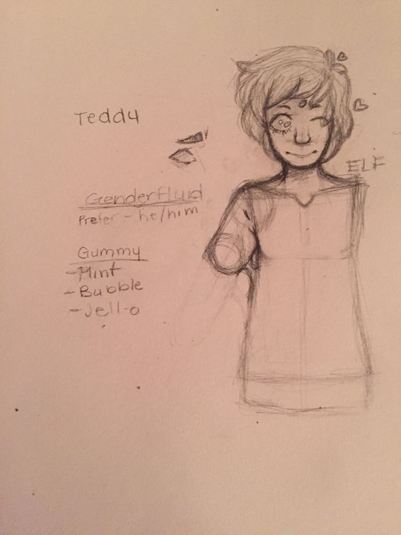 What do you guys think ?Currently making a monster boy OC . He's name is Teddy and is gummy boy.  -Elf
