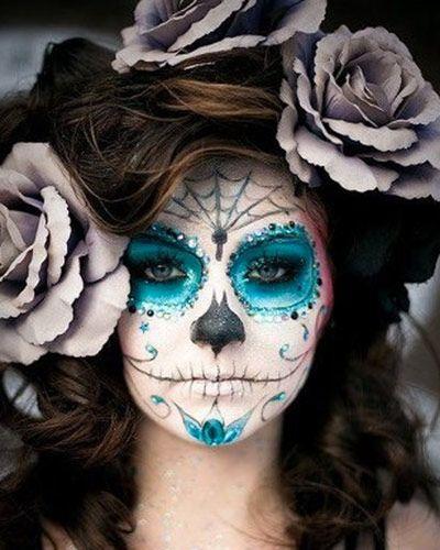 Catrina maquillaje azul