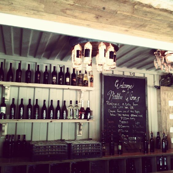 The bar at Malibu Wines