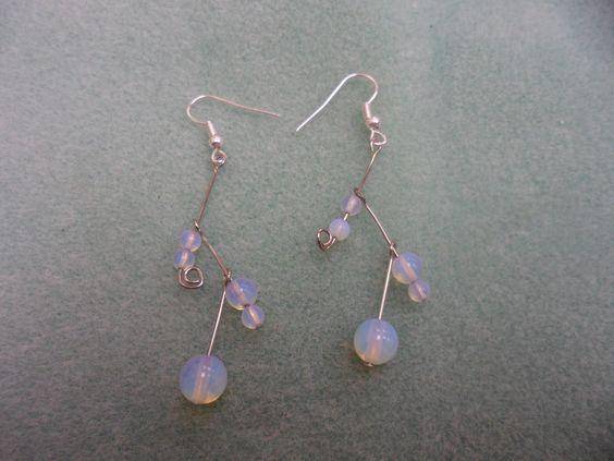 Zig-Zag Moon bead Dangles