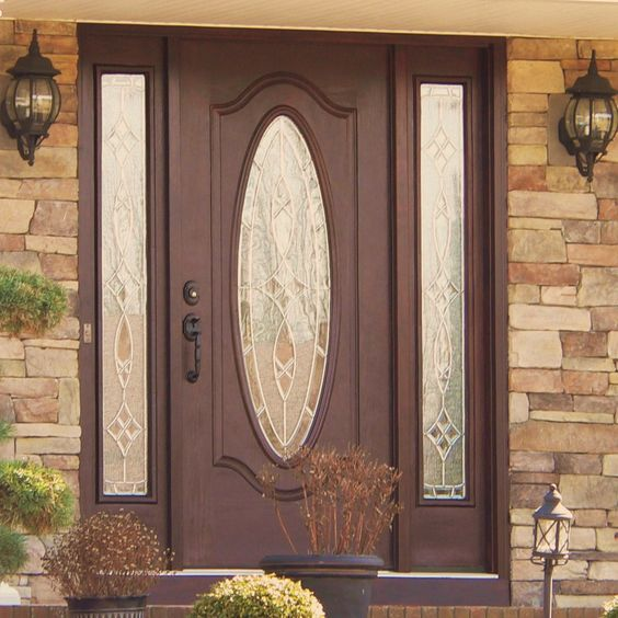 Entry doors doors and front entry on pinterest for Exterior back doors for home