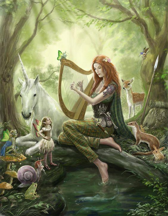 Lynn d'Vadalis in the fairy wood. by dashinvaine.deviantart.com on @deviantART