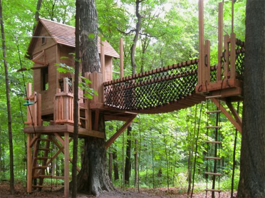 50 kids treehouse designs treehouse bridges and trees - Cool Kids Tree House