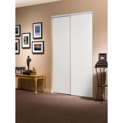 Impact Plus Impact Plus Smooth Flush Solid Core Primed MDF Interior Sliding Closet Door