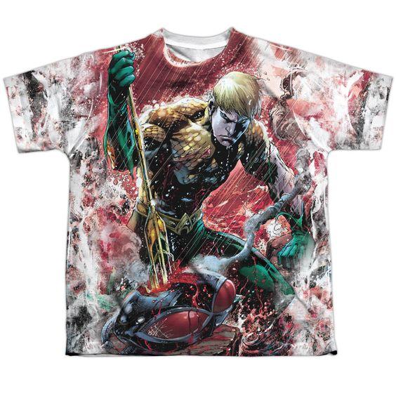 Aquaman: Aquaman vs Manta Sublimated Youth T-Shirt