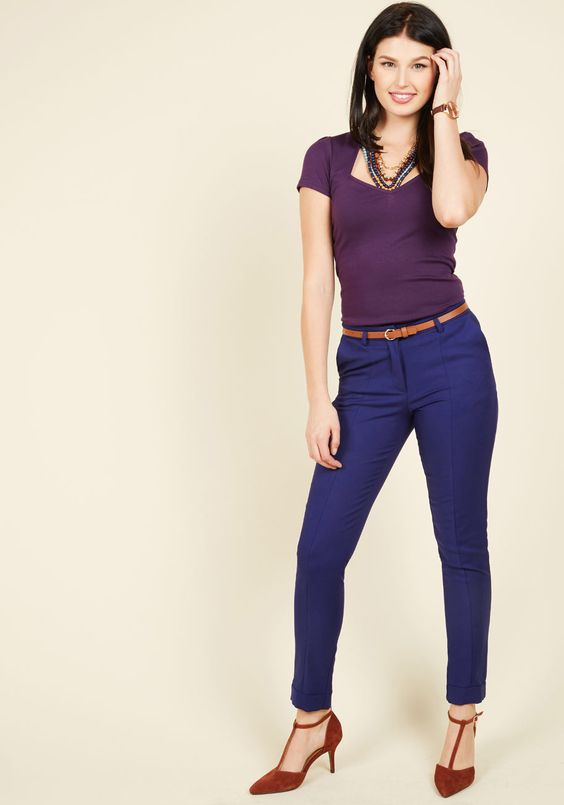 Situationally Savvy Pants in Cobalt, #ModCloth