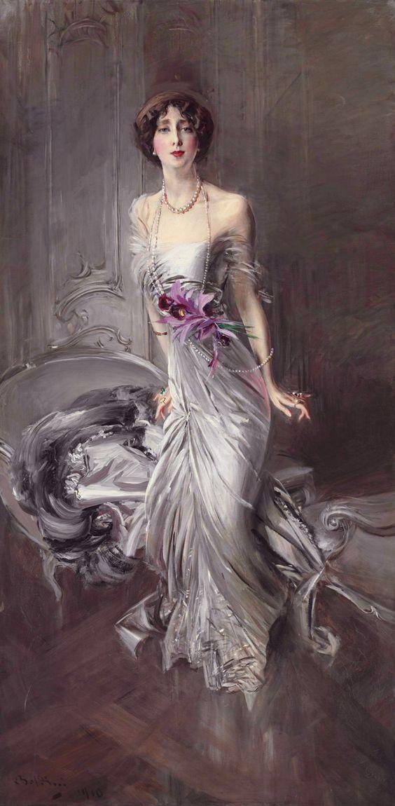 Giovanni Boldini - Portrait of Madame E. L. Doyen, 1910.: