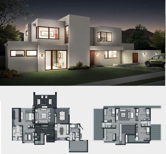 Dise o de casas construccion de casas materiales for Layout casas modernas