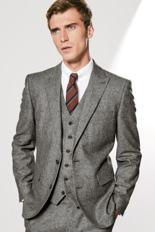 Buy Grey Donegal Suit: Jacket from the Next UK online shop