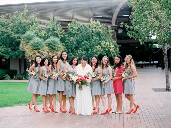 Neutral Dress + Bright Shoe | Photography: Daniel Kim
