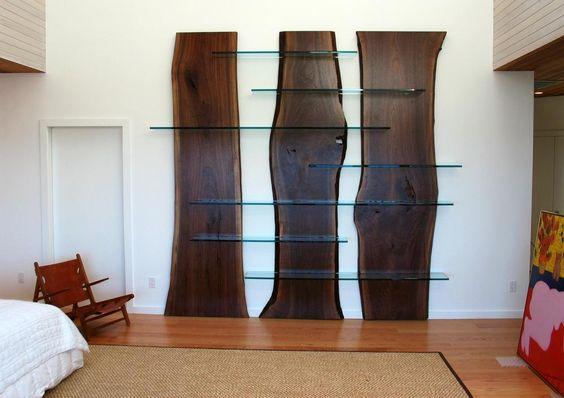 live edge slab wood shelving materials slabwood glass. Black Bedroom Furniture Sets. Home Design Ideas
