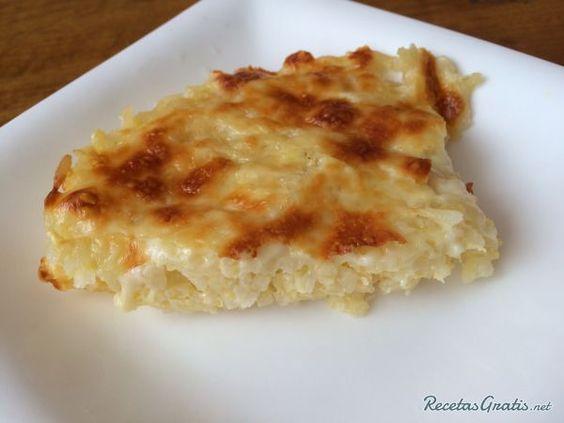 Arroz al horno con queso y crema #RecetasFáciles #RecetasdeCocina #Arroces…