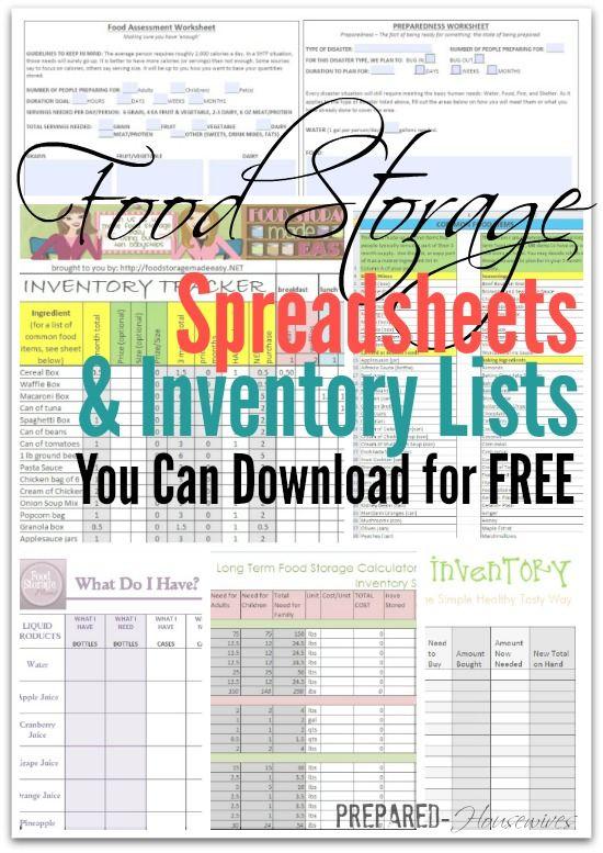 17 Beste Bilder Om Food Storage På Pinterest Matlagring, Poteter   Inventory  List Format  Inventory List Format