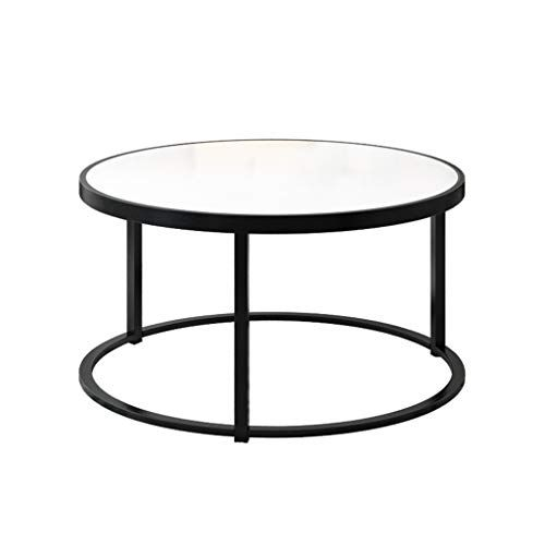 Living Room Coffee Table Wrought Iron Tempered Glass Table Top Modern Home Creative Furniture Living Room Coffee Table Tempered Glass Table Top Coffee Table