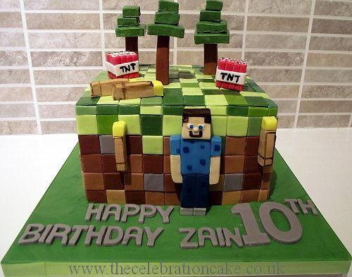 Minecraft Cake Zainjpg 500393 minecraft Pinterest