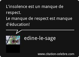 """Résultat de recherche d'images pour """"manque de respect citation"""":"""