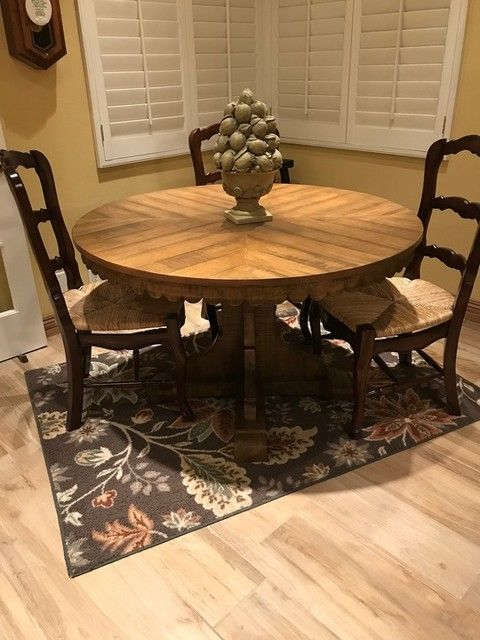Magnolia Home Top Tier Round Dining Table By Joanna Gaines Dining Table Round Wood Dining Table Round Table Decor Round wood table with leaf