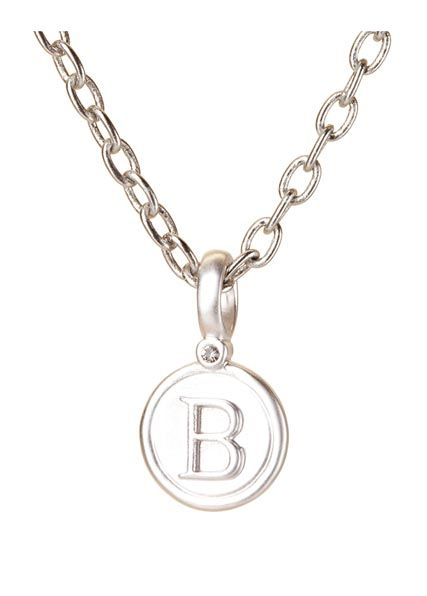 BETA GREEK LETTER PENDANT, SILVER BP FINISH