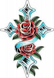 cruz con rosas tatto - Buscar con Google