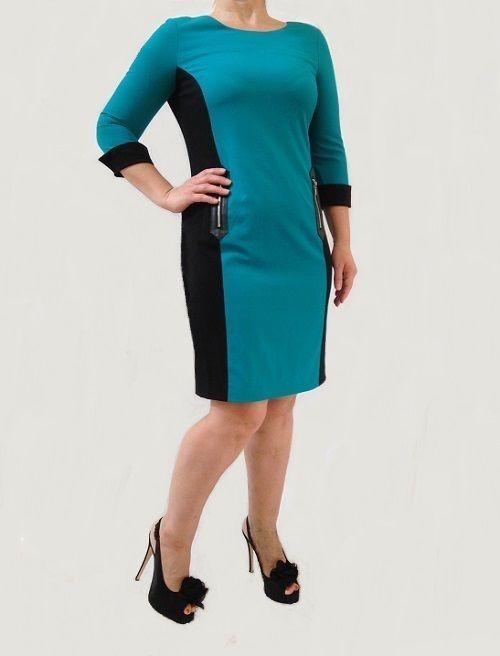 Calvin Klein Long-Sleeve Colorblock Sheath Dress NWT 6, 10, 12 #CalvinKlein #Sheath #Formal