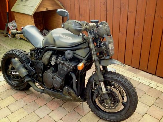 suzuki 600 bandit military street fighter custom as finished front right view small bikes. Black Bedroom Furniture Sets. Home Design Ideas