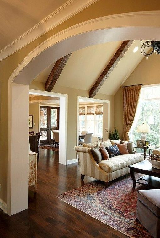 Wall color hc 79 greenbriar beige by benjamin moore - Traditional living room paint colors ...