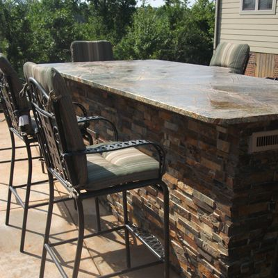 Granite outdoor kitchens outdoor dining outdoor dining for Outdoor stone kitchen designs