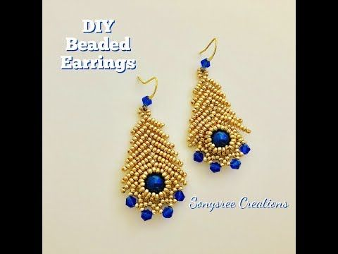 Youtube Beaded Earrings Tutorials Beaded Necklace Patterns