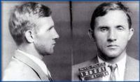 """""""Bruno Richard Hauptmann (November 26, 1899 – April 3, 1936) was a German ex-convict sentenced to death for the abduction and murder of the 20-month-old son of Charles Lindbergh and Anne Morrow Lindbergh. The Lindbergh kidnapping became known as """"The Crime of the Century."""" Read more: http://en.wikipedia.org/wiki/Bruno_Hauptmann"""