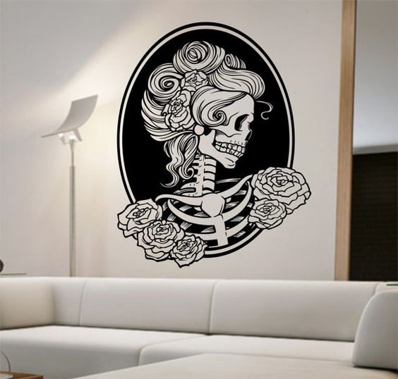 Day of the dead girl Vinyl Wall Decal Sticker Art Decor Bedroom Design Mural sugar skull home decor art street art awesome